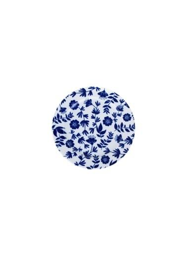 Porland Blue Desen1 Düz Tabak 15Cm Renkli